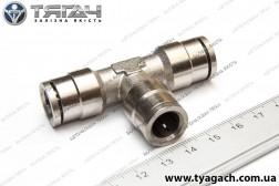 З'єднання трубок T-образне 10мм (метал) (S. I. L. A.)