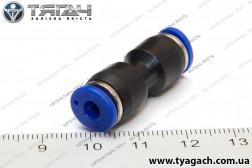 З'єднання трубок пряме 4мм (пластик) (S. I. L. A.)