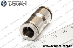 З'єднання трубок пряме 8мм (метал) (S. I. L. A.)