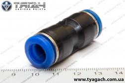 З'єднання трубок пряме 10мм (пластик) (S. I. L. A.)