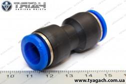 З'єднання трубок пряме 12мм (пластик) (S. I. L. A.)