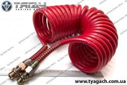 Шланг витий поліуретан М16x1,5 (червоний) 7 м. MERCEDES, MAN...
